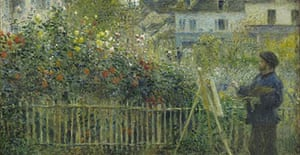 Detail from Renoir's painting Claude Monet Painting in his Garden at Argenteuil (1873)