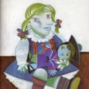 Detail of Maya with her Doll by Pablo Picasso