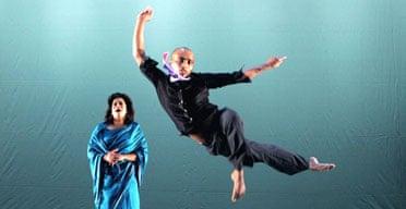 Saju Hari and Patricia Rozario in Faultline by Shobana Jeyasingh