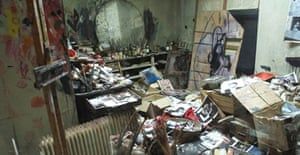 London studio of Francis Bacon as reconstructed in Dublin for an exhibition at the Hugh Lane Gallery