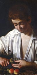 A Boy Peeling Fruit by Caravaggio, The Art of Italy in the Royal Collection: Renaissance and Baroque