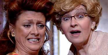 Samantha Hughes and Su Pollard in Menopause the Musical, Shaw, London