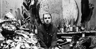 Francis Bacon in his studio 1980