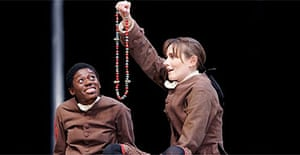 Akiya Henry and Anna Madeley in Coram Boy, Olivier Theatre