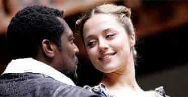 Eamonn Walker and Zoe Tapper in Othello, Shakespeare's Globe
