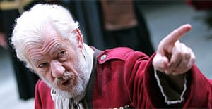 Ian McKellen in King Lear, Courtyard, Stratford