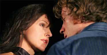 Dirvla Kirwan and Toby Stephens in Pinter's Betrayal (Donmar Warehouse)