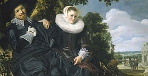 Dutch Portraits: The Age of Rembrandt and Frans Hals at the National Gallery, Double Portrait of Isaac Massa and Beatrix van der Laen, about 1622 by Frans Hals