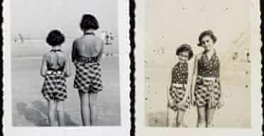 Anne Frank and her sister Margot posing on the beach of Zandvoort, Netherlands, in 1937Anne Frank and her sister Margot posing on the beach of Zandvoort, Netherlands, in 1937