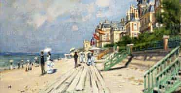 The Beach at Trouville, 1870, by Claude Monet: Impressionists by the Sea at the Royal Academy
