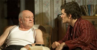 Tim Healy and Orlando Bloom in In Celebration, Duke of York's
