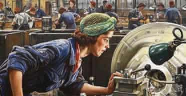 Laura Knight's Ruby Loftus Screwing a Breech Ring