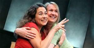 Andrea Newland and Sandra Duguid in Playing God, Soho Theatre