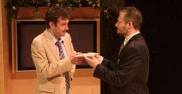 Paul Higgins (Paul) and Alex Elliot (Wasim) in Damascus at the Traverse, Edinburgh 2007