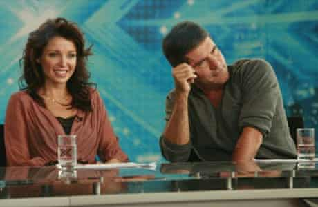 Dannii Minogue and Simon Cowell on The X Factor