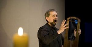Banjamin Bagby performing Beowulf, Edinburgh 2007