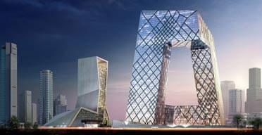 Rem Koolhaas's China Central Television building, Beijing