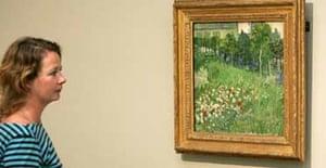 Daubigny's Garden by Van Gogh, painted on a tea towel
