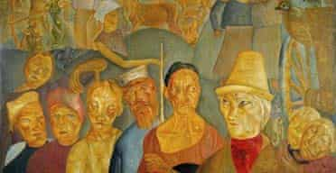 A detail from Faces of Russia, by Boris Grigoriev