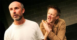 Marcello Magni (A) and Jos Houben (B) in Rough for Theatre l from Fragments, Young Vic, London