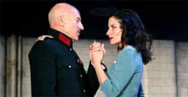 Patrick Stewart (Macbeth) and Kate Fleetwood (Lady Macbeth) in Macbeth, Gielgud Theatre, London