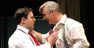 Andy Nyman (David O Selznick) and Duncan Bell (Ben Hecht) in Moonlight and Magnolias, Tricycle, London