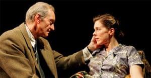 Charles Dance (CS Lewis) and Janie Dee (Joy Gresham) in Shadowlands, Wyndham's Theatre