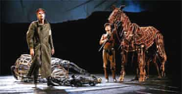 Rehearsals for War Horse at the National