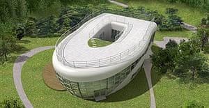 A lavatory-shaped home