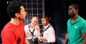 Alexis Rodney, Heather Craney, Syan Blake and Abdul Salis in Joe Guy, Soho Theatre