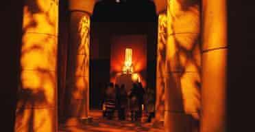 Tutankhamun exhibition at the O2 arena - colossal staue of Amenhotep IV
