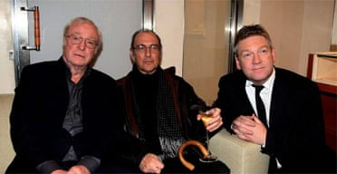 Michael Caine, Harold Pinter and Kenneth Branagh