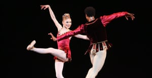 Sarah Lamb and Carlos Acosta in Rubies from Jewels by the Royal Ballet