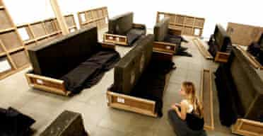 Santiago Sierra's 21 Anthropomentric Modules Made of Human Faeces by the People of Sulabh International, India
