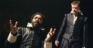Chiwetel Ejiofor (Othello) and Ewan McGregor (Iago) in Othello, Donmar Warehouse, London