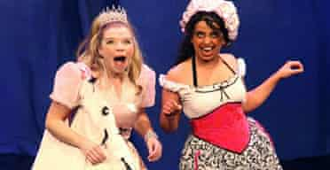 Alison Pargeter (Princess Melody) and Shelley Williams (Princess Melody) in Jack and the Beanstalk, Barbican
