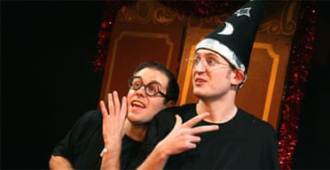 Jefferson Turner and Daniel Clarkson in Potted Potter, Trafalgar Studios, London