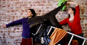 Dancers rehearse a new piece at Chisenhale