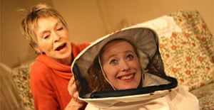 Susannah York and Victoria Yeates in Walking on Water, White Bear Theatre, London