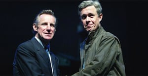 Nicholas Farrell as Blair and Alex Jennings as Bush in Stuff Happens