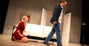 Imogen Stubbs (Marianne) and Iain Glen (Johan) in Scenes from a Marriage, Belgrade Theatre, Coventry