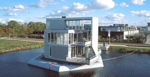 Herman Hertzberger's floating houses in the Netherlands