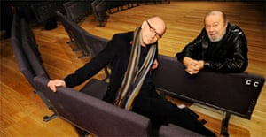 Sir Peter Hall and Stephen Unwin, new artistic director, at the Rose Theatre in Kingston