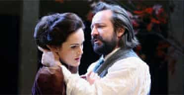 Michelle Dockery (Yelena) and Neil Pearson (Astrov) in Uncle Vanya, Rose Theatre, Kingston