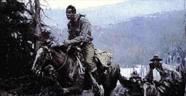 Cowboy scene by WHD Koerner, 1916