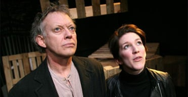 Hilton MaRae (Josef Frank) and Katie Cotterell (Janice) in Weapons of Happiness, Finborough