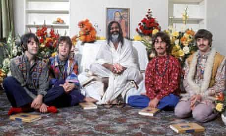 The Maharishi Mahesh Yogi with the Beatles.