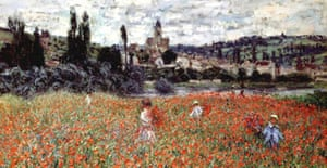 Poppies near Vetheuil by Claude Monet (1879), one of the stolen works of art