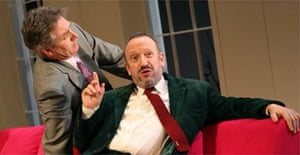 Steven Pinder (Philip) and Allan Corduner (Alan) in The Grouch, West Yorkshire Playhouse