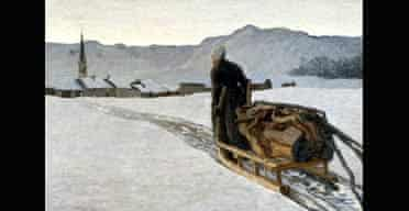 Divisonists at the National Gallery:  Return from the Woods, 1890 By Giovanni Segantini (1858-1899)